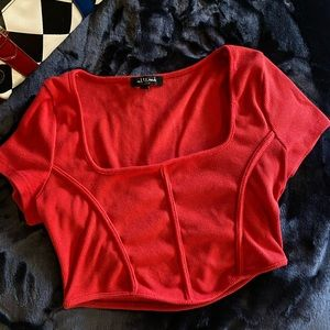 Sexy red crop top